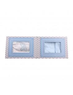 Caja de regalo Marco (incl. body con imprimé, pantalón y gorrito) azul