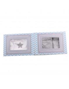 Caja de regalo Marco (incl. body con imprimé, pantalón y gorrito) gris