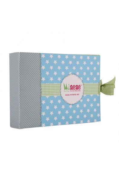 Caja de regalo Sorpresa (incl. body con imprimé, pantalón y gorrito) azul