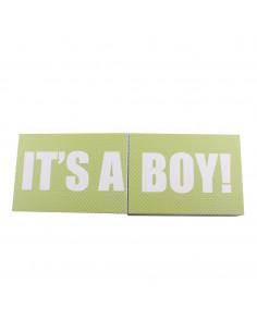 Caja de regalo Sorpresa (incl. body con aplique, pantalón y gorrito) azul
