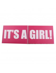 Caja de regalo Sorpresa (incl. body con aplique, pantalón y gorrito) rosa