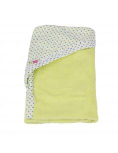 Toalla 100% algodón con capucha 90x100 cm verde